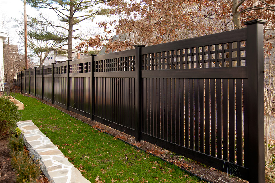Illusions Black Vinyl Pvc Semi-Privacy Fencing Panels