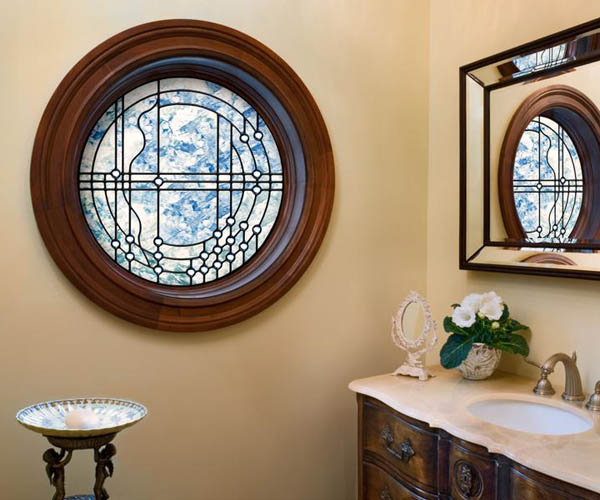 Jeld Wen: Cherry Wood Round Picture Window