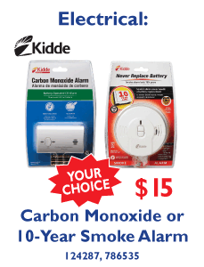 Carbon Monoxide or 10-Year Smoke Alarm - Your Choice $15