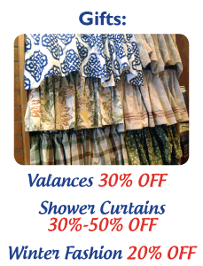 Valances 30% Off - Shower Curtains 30%-50% Off - Winter Fashion 20% Off
