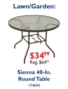 Sienna Collection - 40-In. Round Table $49.99.