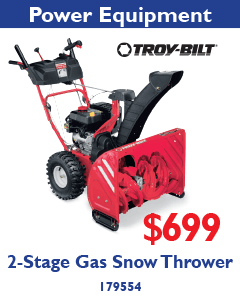 2-Stage Gas Snow Thrower. $699.