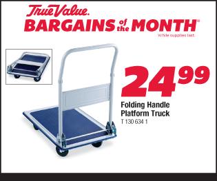 Folding Handle Platform Truck. $24.99