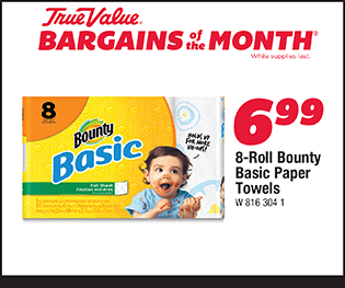 8-Roll Bounty Basic Paper Towels. $6.99.