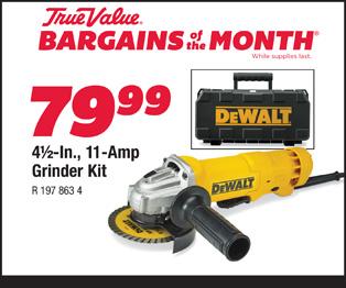 DeWalt 4 1/2 In., 11-Amp Grinder Kit $79.99