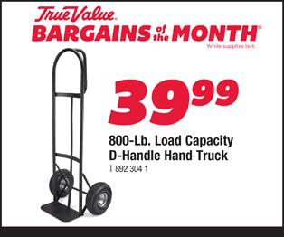 800 Lb. Load Capacity D-Handle Hand Truck $39.99