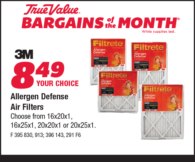 3M Allergen Defense Air Filters. Your Choice $8.49.