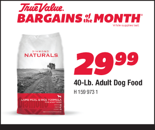 Diamond Naturals 40-Lb. Adult Dog Food $29.99