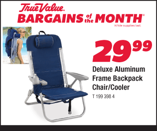 Deluxe Aluminum Frame Backpack Chair Cooler $29.99
