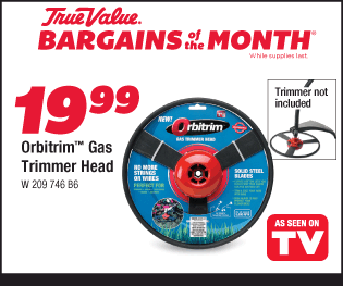 Orbitrim Gas Trimmer Head $19.99 (Trimmer not included)