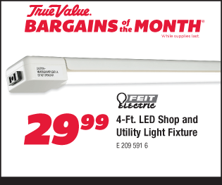 4-Ft. L.E.D. Shop and Utility Light Fixture $29.99