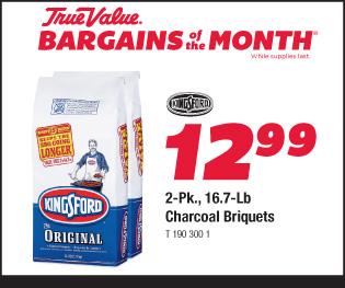 2 pack, 16.7 lb. Kingsford Caharcoal Briquets $12.99