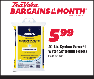 40-Lb. Morton System Saver II Water Softening Pellets. $5.99.