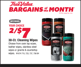 Your Choice. 2 for $7. 30-Ct. Cleaning Wipes.
