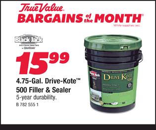4.75-Gal. Drive-Kote 500 Filler & Sealer. $15.99