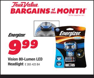 Energizer Vision 80-Lumen LED Headlight. $9.99