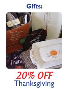20% OFF Thanksgiving