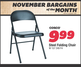 Steel Folding Chair. $9.99