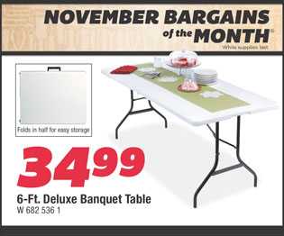 6-Ft. Deluxe Banquet Table. $34.99.